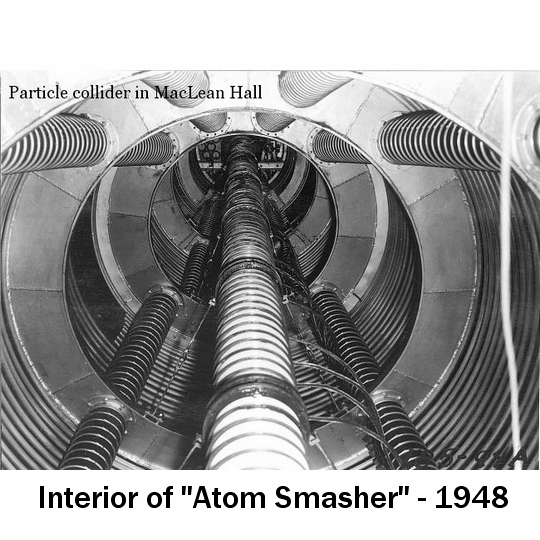 """""""Atom Smasher"""" in MacLean Hall - 1948"""