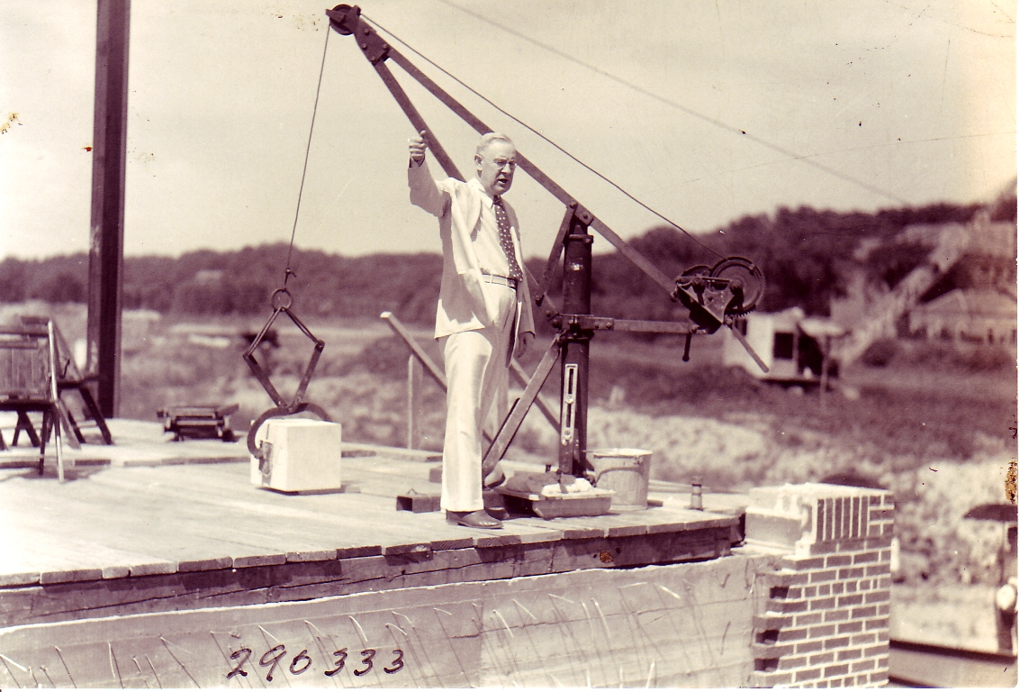 Laying the MacLean Hall cornerstone - 1910
