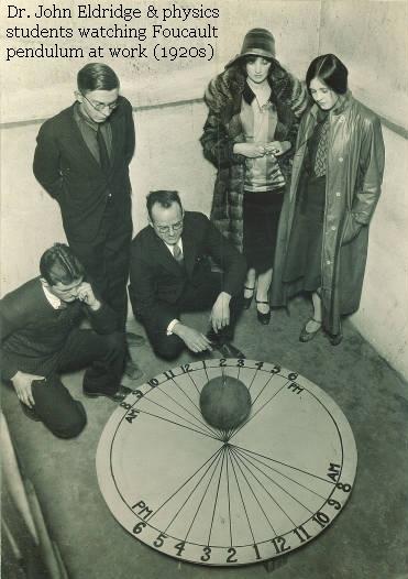 Foucault Pendulum in MacLean Hall - 1920s