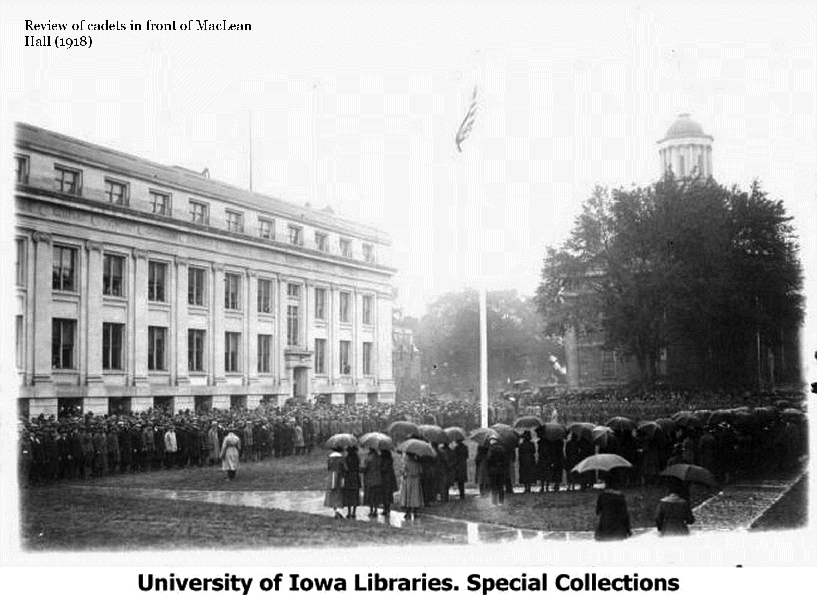 Military Review in front of MacLean Hall - 1918