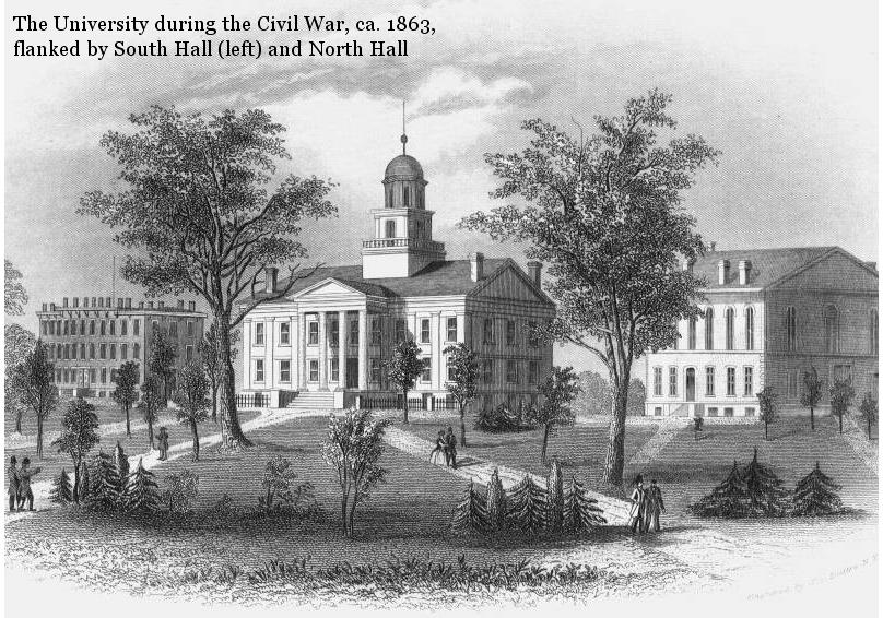 The University of Iowa Pentacrest, circa 1863