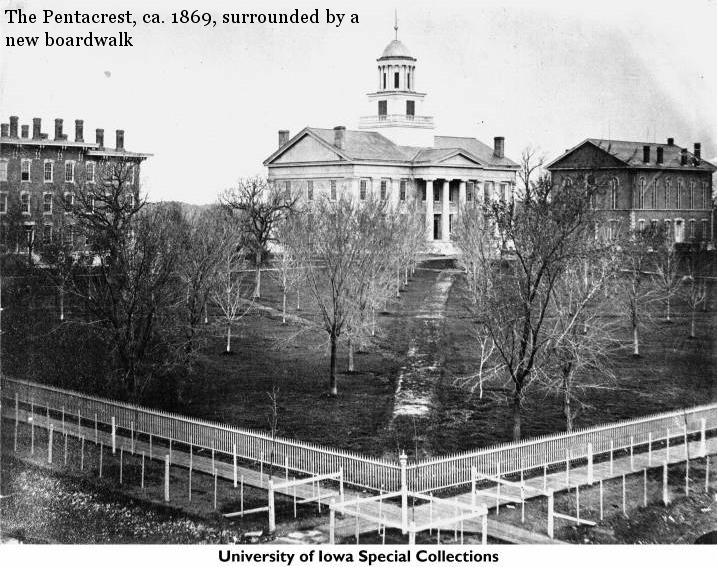 The University of Iowa Pentacrest, circa 1869