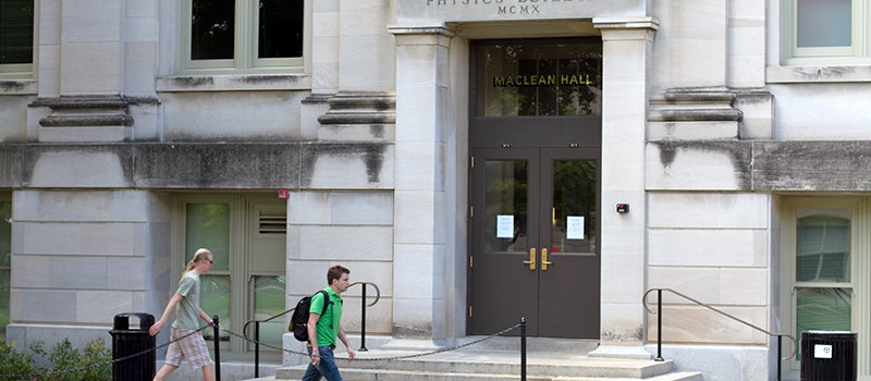 MacLean Hall entrance