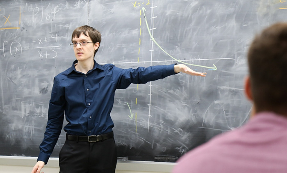 A graduate student in the Department of Mathematics