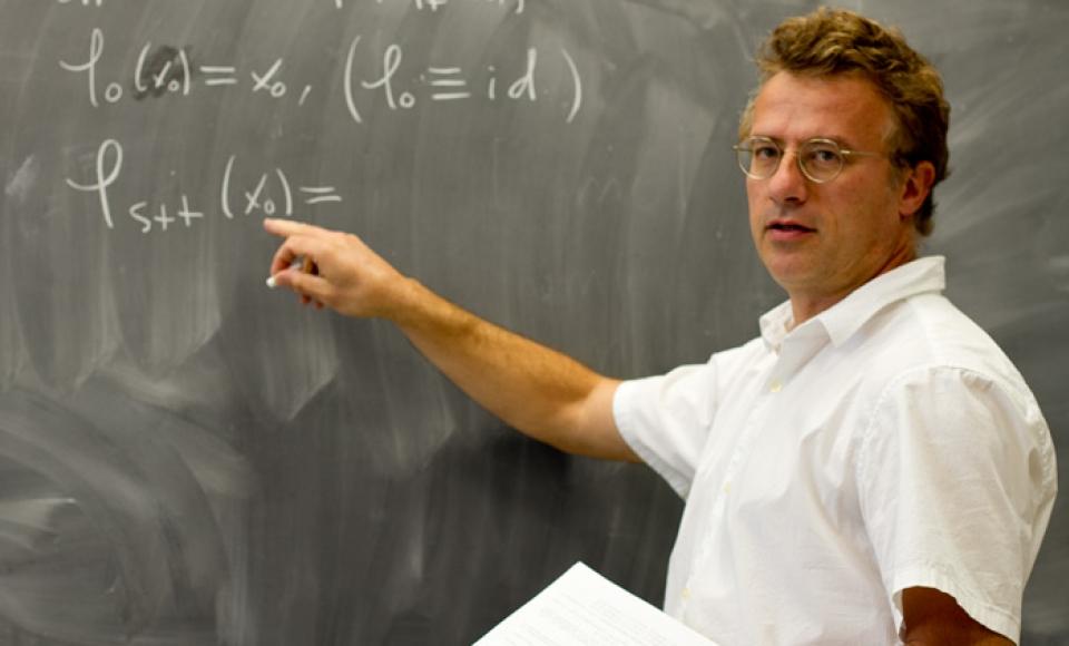 A professor teaching a class