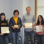 Grad students awardees, left to right: Dana Bates, Ekaterina (Katya) Nathanson, Nathaniel Richmond, & Leyda Almodovar.  Not pict