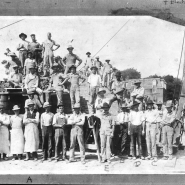 The construction crews pauses for a group portrait - 1910