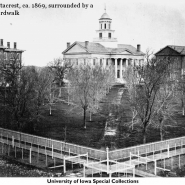 The University of Iowa Pentacrest, circa 1869